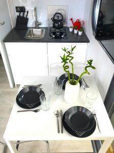 kuchnia w domku na wodzie